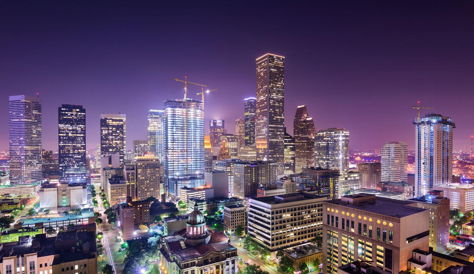 Night time in Metro Houston