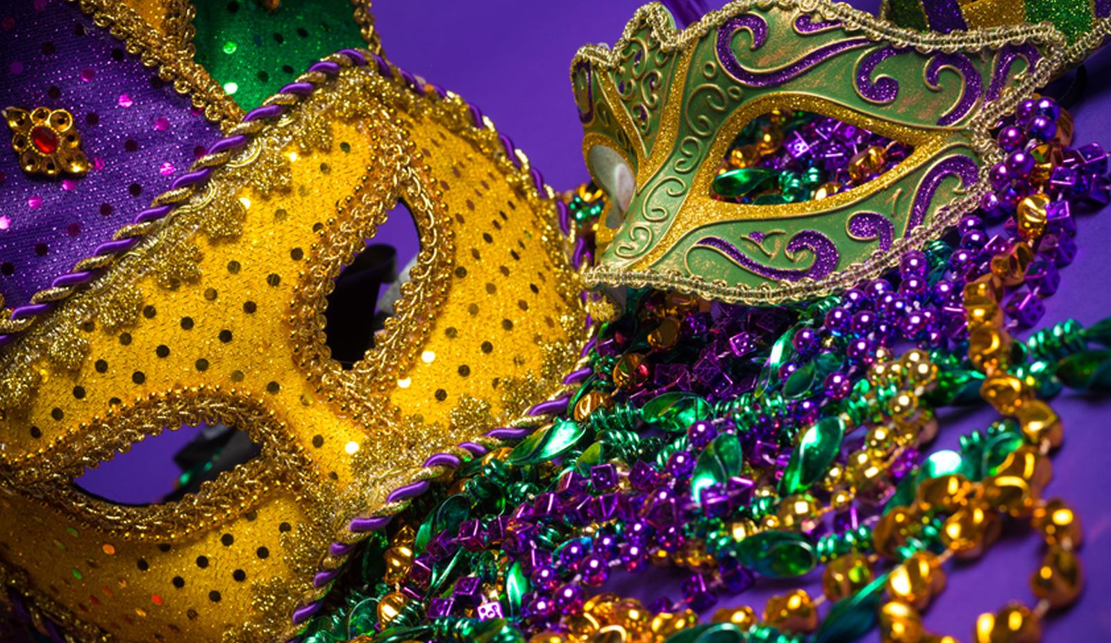 Purple elegant mask