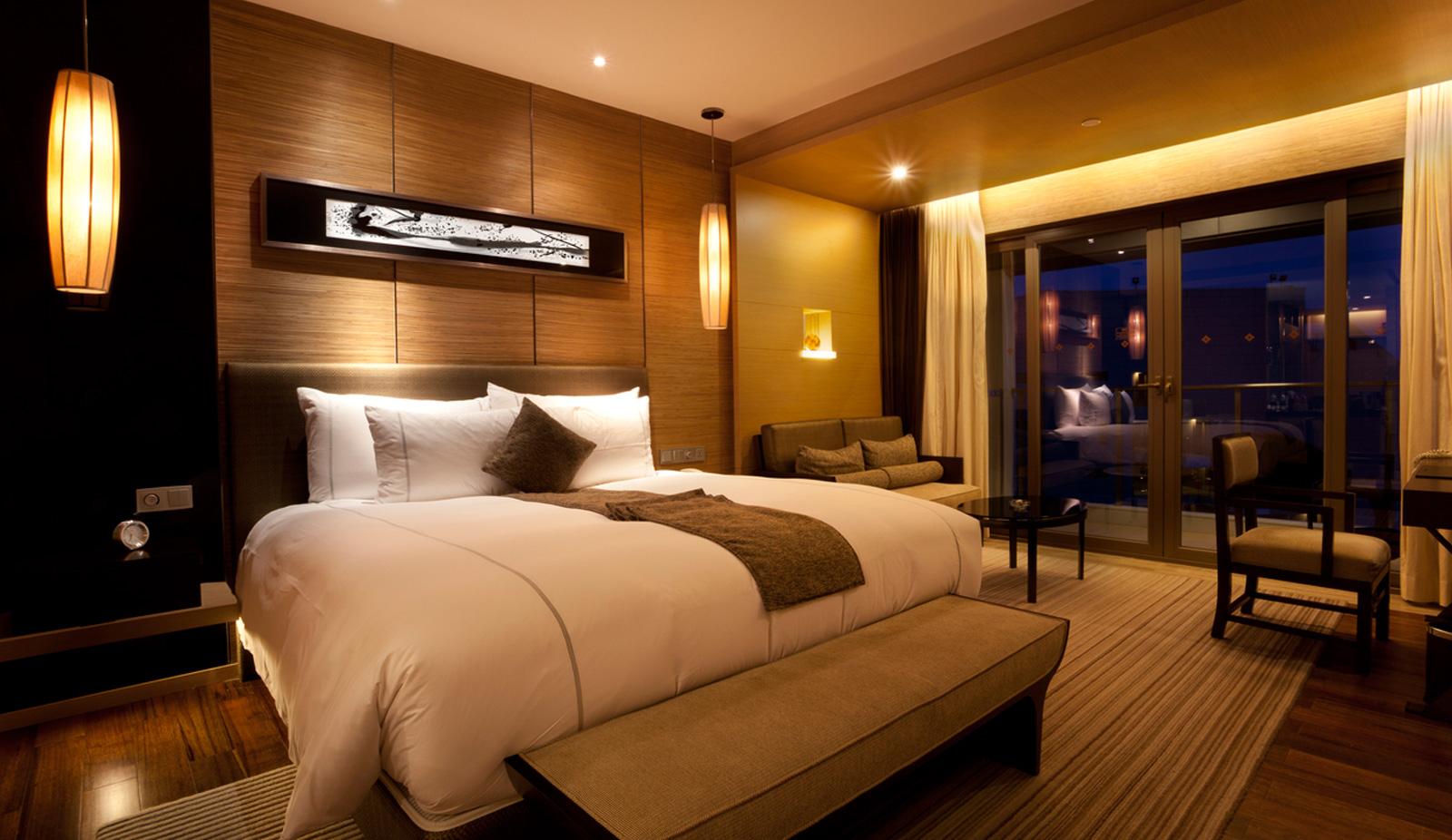 Luxury nighttime bedroom